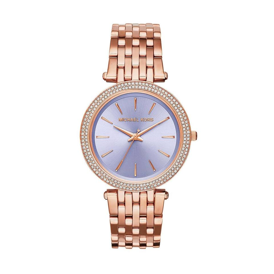 7139b4fa3f47e Michael Kors Darci Purple Dial Rose Gold-tone Ladies Watch - Tradesy