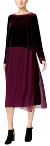 Eileen Fisher short dress RAISONETTE Velvet Silk Midi Duster on Tradesy