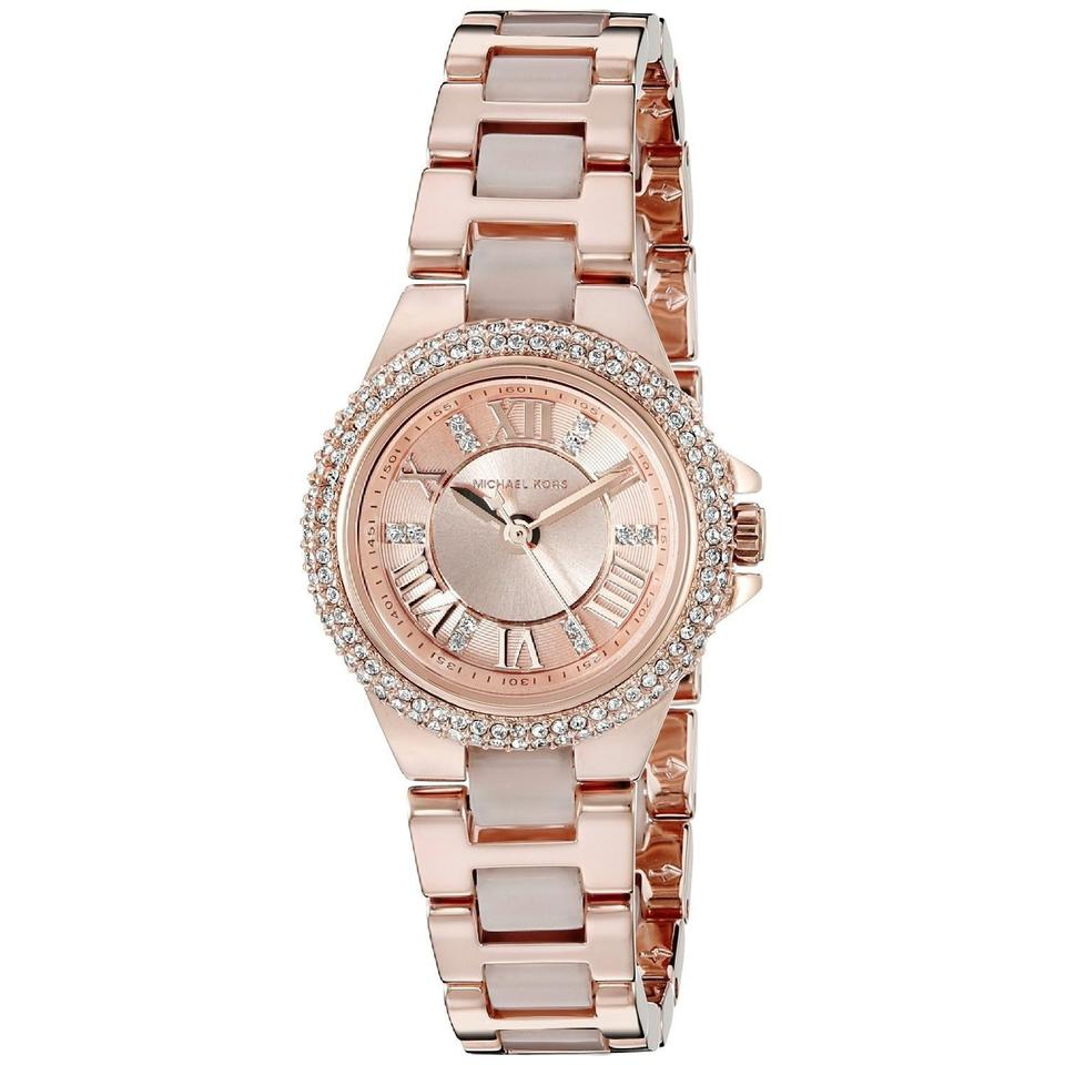349267a56048 Michael Kors Petite Camille Rose Dial Rose Gold-tone Ladies Watch Image 0