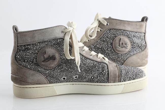 Item - Grey Strass Flat Shoes