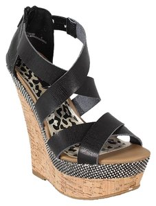 Dollhouse Black Wedges