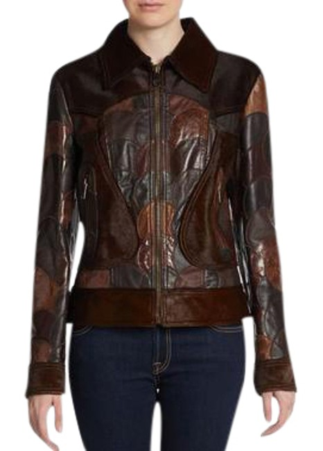 Item - Brown Dag59511/ Leather and Ponyhair Patchwork Jacket Size 4 (S)