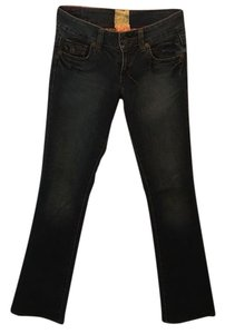 Marlow Faux Leather Low Waisted Boot Cut Jeans
