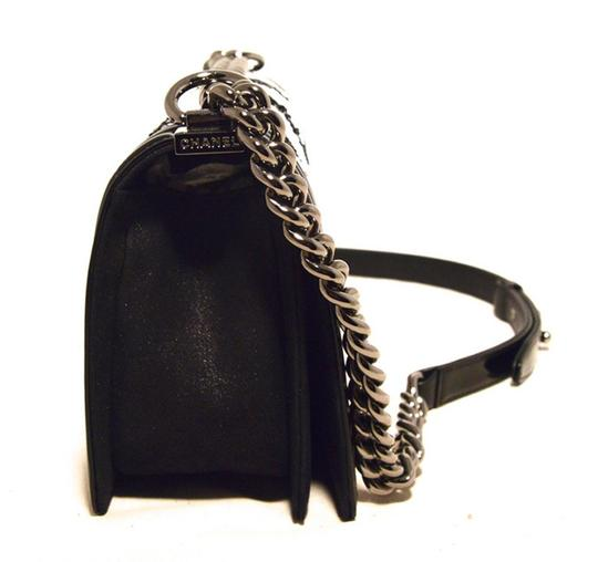 Chanel Patent Leather Classic Boy Classic Flap Paris Rare Rare Beaded Beaded Boy Boy Classic Shoulder Bag