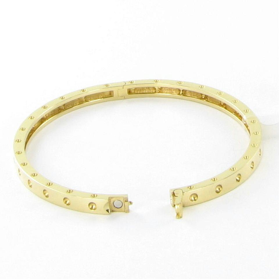 in oval rose bangles gold bangle