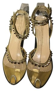 Charlotte Olympia transparent with gold Pumps