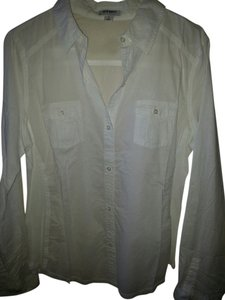 Old Navy Cotton Cotton Long Sleeve Pocket Front Sheer Lightweight Cotton Spring Summer Go To Under Jacket Top White