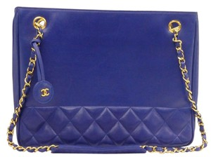 Chanel Vintage Lambskin Tote in Blue