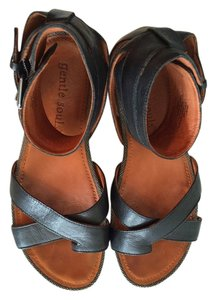 Gentle Souls Gladiator Black Sandals
