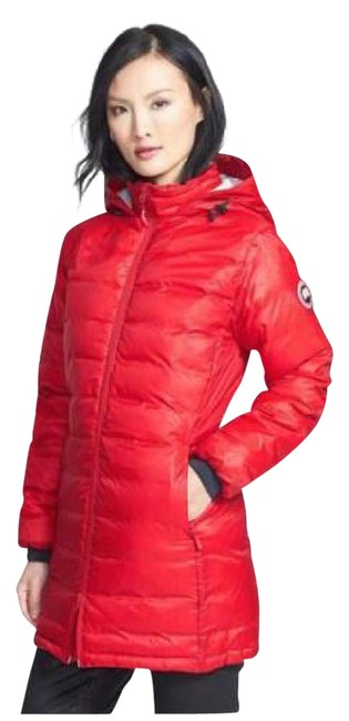 Item - Red Camp Down Hooded Package Puffer Womens Coat Size 4 (S)