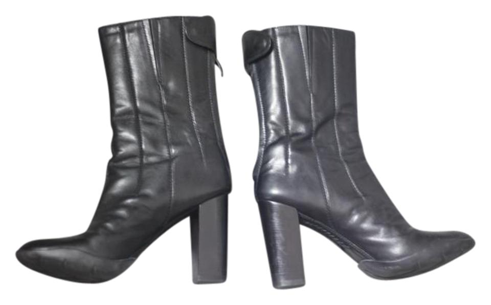a3892dd38444 Cole Haan Black Leather Nike Air G-series Futuristic Ankle Boots Booties