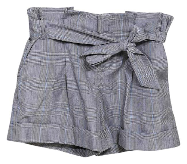Item - Gray Blue White Taikonhu High-waisted Plaid with Tie Shorts Size 4 (S, 27)
