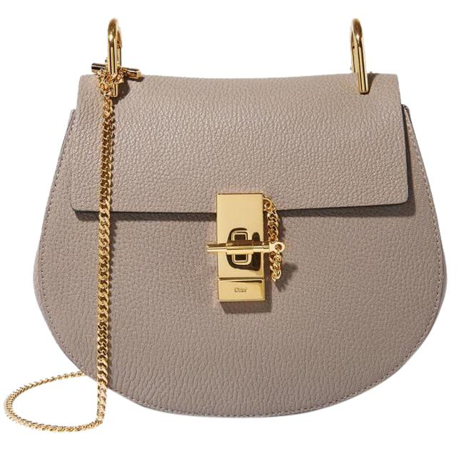 Item - Drew Shoulder Small Textured-leather Motty Grey / Taupe Grey Lambskin Leather Cross Body Bag