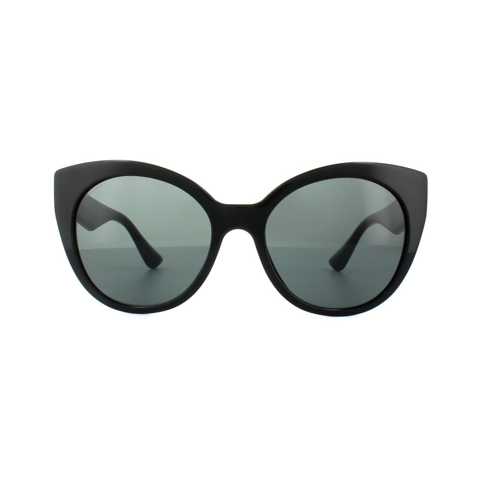 7113b5085ab3 Miu Miu NEW Miu Miu (SMU 07R) Stardust Collection Cat Eye Black Sunglasses  Image ...