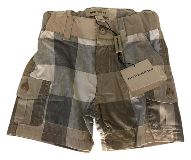 Item - Tan Plaid Children Baby Boy Summer Classic Shorts Size OS (one size)