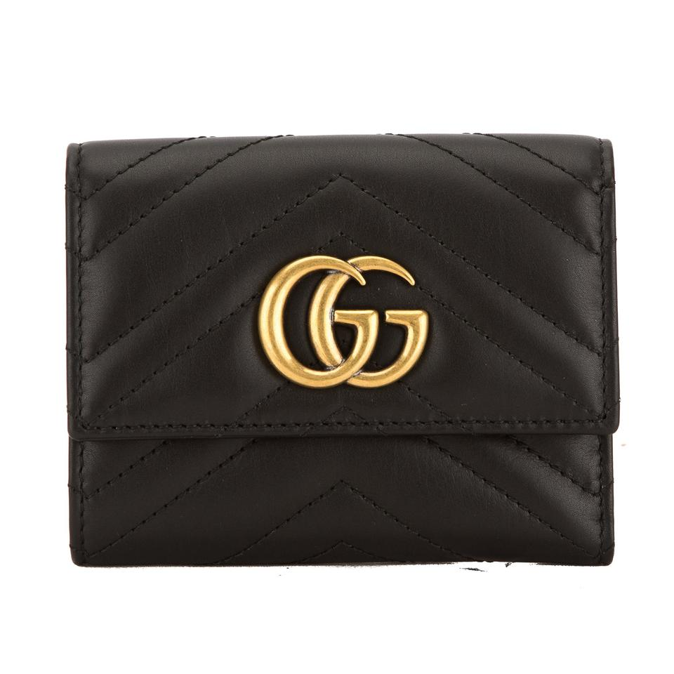 155ad59b9bdf Gucci Gucci Black Matelasse Leather GG Marmont Wallet New with Tags Image 0  ...