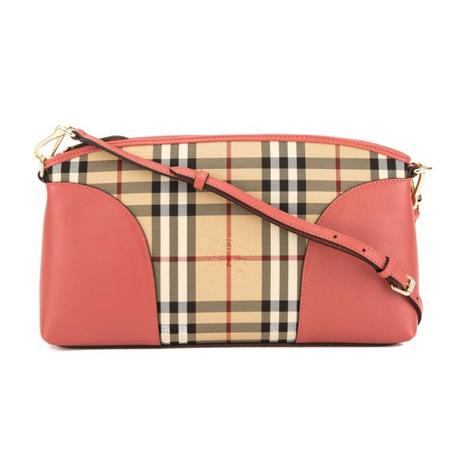Item - Leather and Horseferry Check Chichester Pink Canvas Cross Body Bag