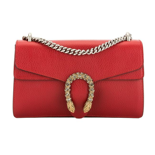 Gucci Dionysus New With Red Leather Shoulder Bag Gucci Dionysus New With Red Leather Shoulder Bag Image 1