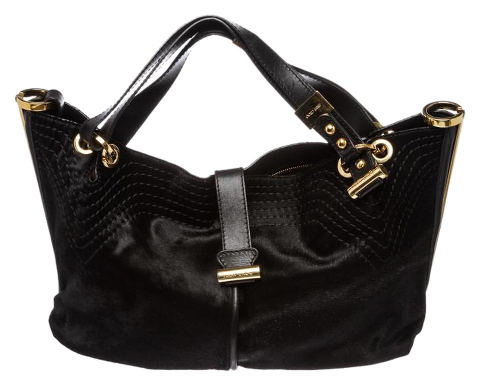 bc363236a9a Jimmy Choo Alex Black Pony Hair and Leather Hobo Bag - Tradesy
