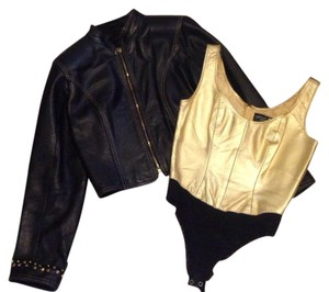 North Beach Leather Top gold
