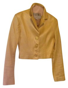 North Beach Leather yellow Leather Jacket