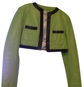 Cache green & black Leather Jacket