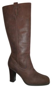 Nicole Distressed Leather Tall brown Boots