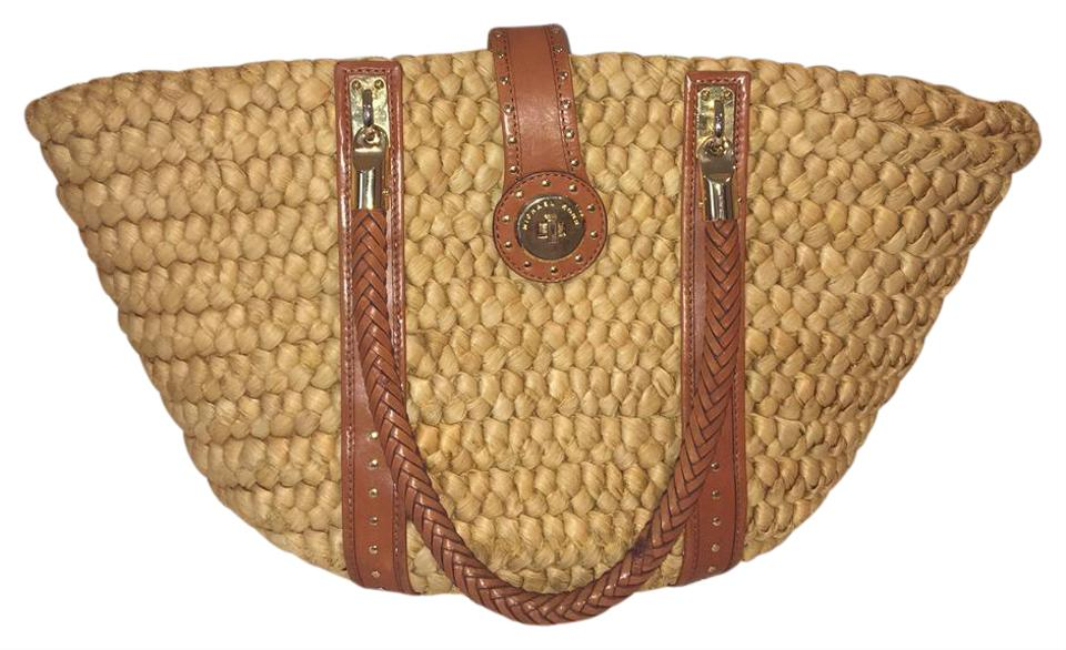 ec1069928bf7 Michael Kors Wicker and Leather Tan Tote - Tradesy