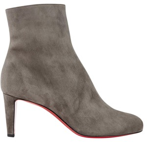 fa2376904128 Christian Louboutin Top 70mm Suede Ankle Gray Boots