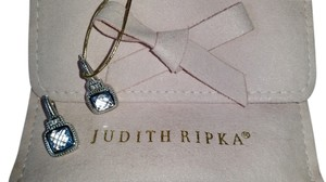 Judith Ripka Judith Ripka Sterling & 18k blue quartz earrings