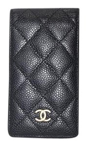 Chanel CHANEL Black Quilted iPhone 4 & 5 Case