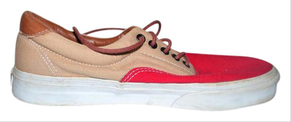 a1a508abf1 Vans Red Cloth Low Trainers Sneakers Size US 8 Regular (M