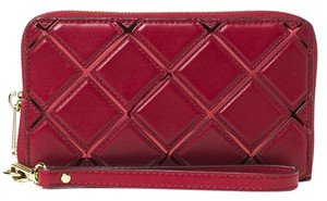 Michael Kors Michael Kors Jet Set Travel Diamond Quilted Large Flat Phone Wallet
