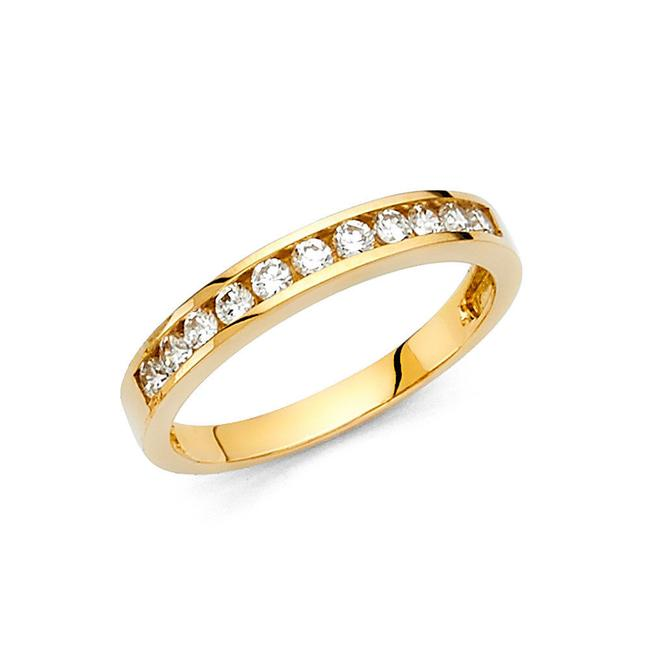 Item - Yellow Gold 14k Solid Round Ring Sizes 5 6 7 8 9 Women's Wedding Band