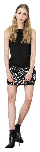 Item - Black/White Painted Daisy Short Night Out Dress Size 6 (S)