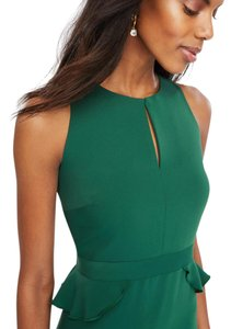 Ann Taylor Emerald Sheath Wedding Ruffle Dress
