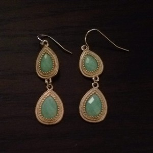 Forever 21 Gold & Turquoise Earrings