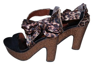 JustFab Leopard Platforms