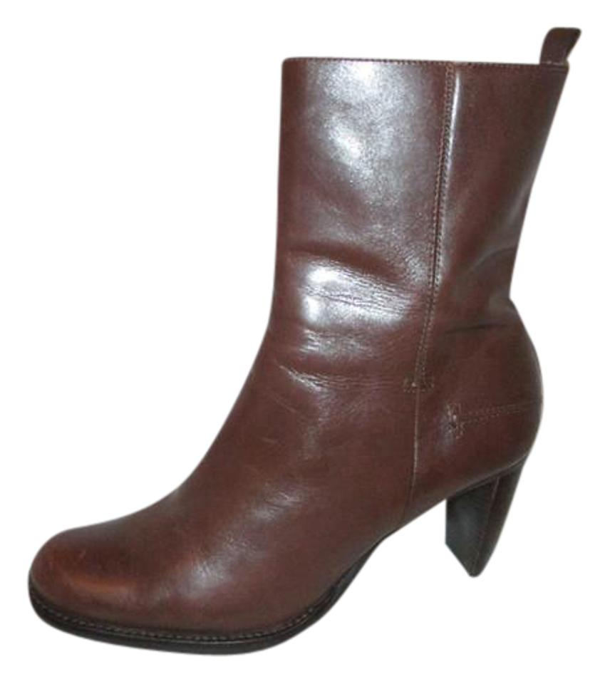 Gianni Bini Brown Anne Ankle Leather Ankle Anne Boots/Booties 096b77