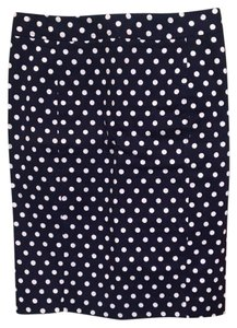 Pixley Pencil Polka Dot Skirt Navy