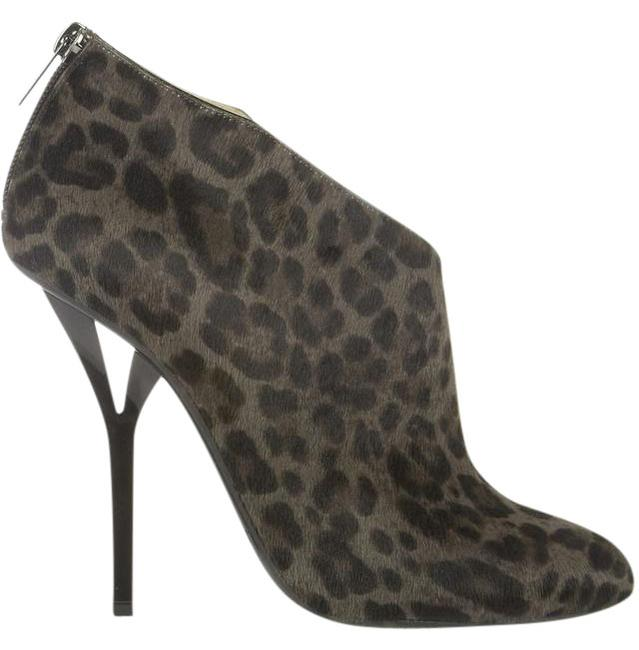 Item - Multicolor 'lane' Gray and Black Calf Hair Leopard Print Boots/Booties Size EU 39 (Approx. US 9) Regular (M, B)
