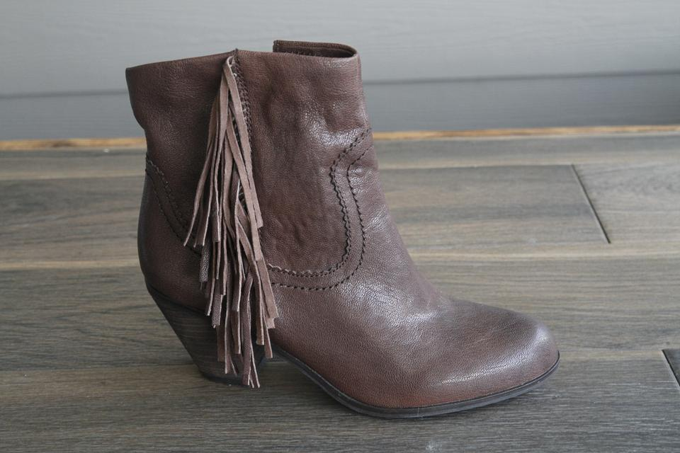 7146ef6ebc644 Sam Edelman Brown New -  louie  Fringe Western Boots Booties Size US 9.5  Regular (M
