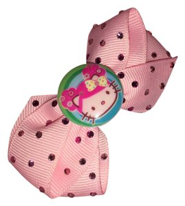 Tarina Tarantino Hello Kitty Pink Crystal Hair Clip