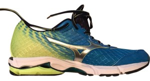 Mizuno marine blue and lime green Athletic