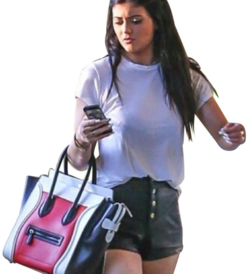 0a158823324 Kendall + Kylie Black Vegan Leather Shorts Size 4 (S