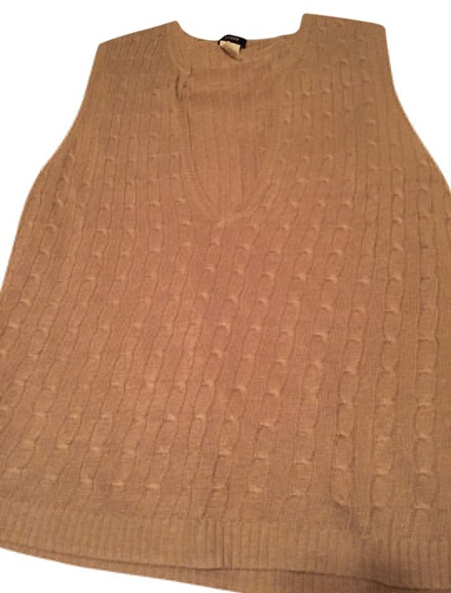 J.Crew Vest Linen Cable Sleeveless Sweater