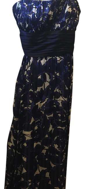Item - Blue Strapless Gown Long Formal Dress Size 8 (M)