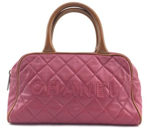 Chanel Satchel in pink and light brown