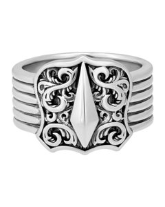Stephen Webster Stephen Webster Highwayman Men's sterling silver Shield ring size 10