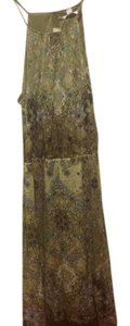 New York & Company short dress Greens and beiges and browns N.y Co. Sleeveless Halter With Tags on Tradesy